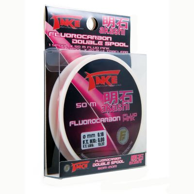 Lineaeffe Take Akashi Double Spool - Fluo Pink+Ultraclear