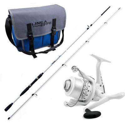 Lineaeffe Kit da Pesca Spinning Canna Freshwater Spin 2 40 m 50 g   Mulinello Sk7 3000 Imbobinato  Borsa Shoulder Porta Accessori