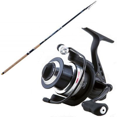 Lineaeffe Kit da Pesca Canna Inglese da Lancio e Fondo Super Hero 4 20 m 20 70 g Mulinello TS Conic 4000