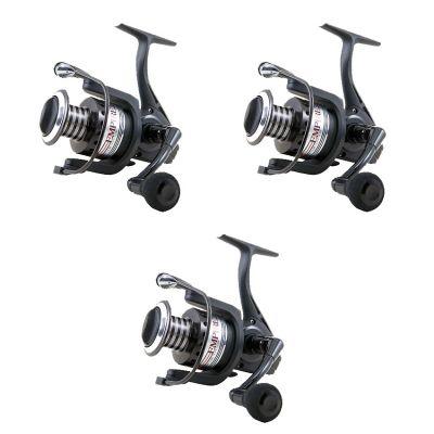 Lineaeffe Super Offerta Kit 3 Mulinelli Black Edition 3000 - 9 cuscinetti per Trota Lago - Spinning  - Pesca al Colpo - Feeder