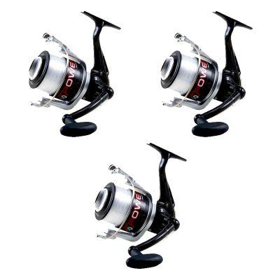 Lineaeffe Super Offerta Kit 3 Mulinelli 4000 per Trota Lago - Spinning  - Pesca al Colpo - Feeder - Pesca dalla Barca