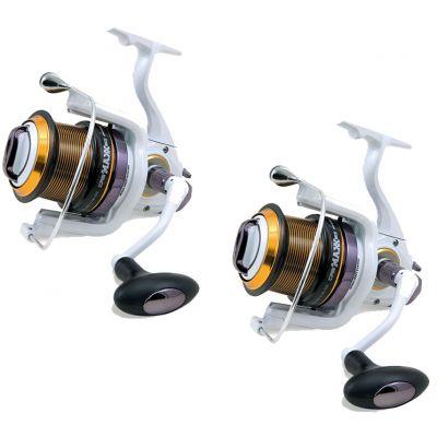 Lineaeffe Super Offerta Kit 2 Mulinelli 5000 Potenti per lo Spinning – Pesca dalla Barca -  Bobin Conica - 5 Cuscinetti e Bobina di Ricambio