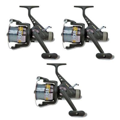 Lineaeffe Super Offerta Kit 3 Mulinelli 6000 Potenti per il Carp Fishing – Imbobinati con Ottimo Filo - Butrunner