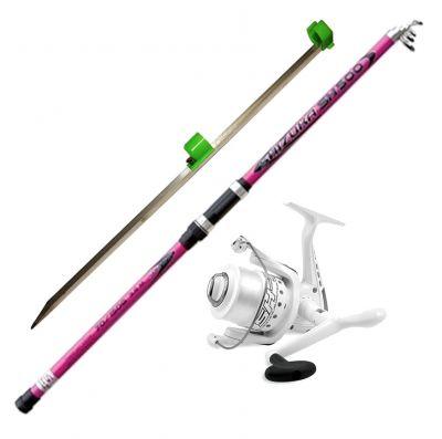 Lineaeffe Kit da Pesca Canna da Lancio Surf Casting e Fondo Shizuka Sh500 4 20 m 70 150 g  Mulinelli Sk7 6000 Imbobinati  Picchetto da Spiaggia da 75 cm