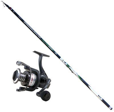 Lineaeffe Kit da Pesca Bolognese Pesca da Riva Standard Master Carbonio 6 m + Mulinello Empire FD 4000