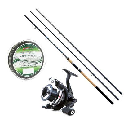 Lineaeffe Kit da Pesca Feeder Canna Ts impulse II 3.60 m 90 g + Mulinello Ts Feeder 4000 + Filo Tubertini Honor Dark Green 0.20mm 150 m
