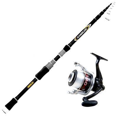 Seika Kit da Pesca a Spinning Canna Seika Tele Gambler 2.40 m – 5 – 25 g + Mulinello Vigor Power 4000 Imbobinato con Ottimo Filo
