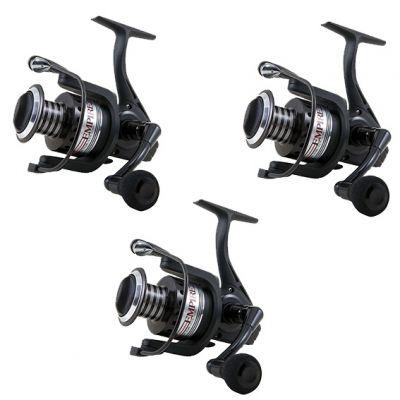 Lineaeffe Super Offerta Kit di 3 Mulinelli 4000 Ideali per lo Spinning Trota Lago Trota Torrente Pesca da Riva Leggero e con 9 Cuscinetti