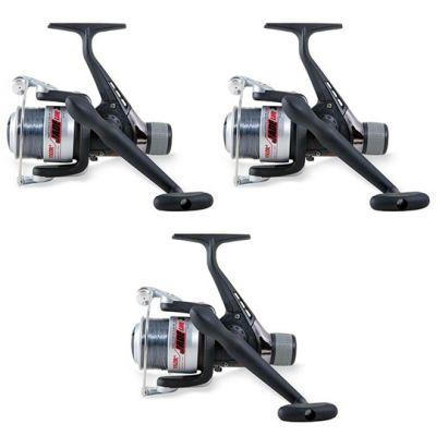 Lineaeffe Super Offerta Kit di 3 Mulinelli 3000 Ideali per lo Spinning Trota Lago Trota Torrente Pesca da Riva Leggero Imbobinati con Ottimo Filo