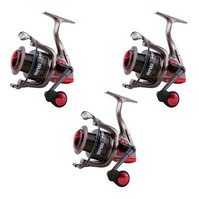 Lineaeffe Super Offerta Kit di 3 Mulinelli  2000 Ideali per lo Spinning Leggero Trout Area Pesca da Riva Leggero Imbobinati con Frizione Super Precisa e 8 Cuscinetti
