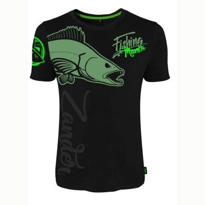 Hotspot Design T Shirt Fishing Mania Zander