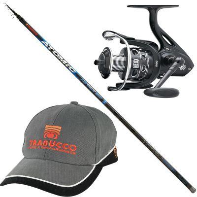 Trabucco Kit Pesca Bolognese Fondo Riva Canna Atomic XS Energy 7 m  Mulinello Neox 4000 con Cappellino Trabucco in Omaggio