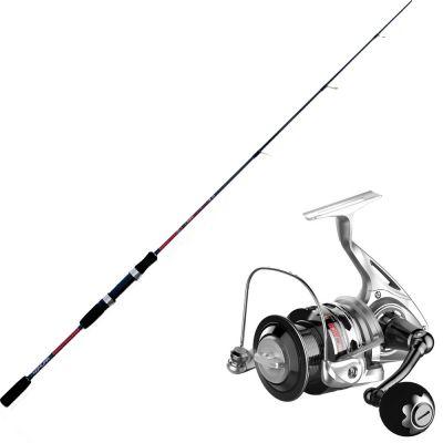 Nomura Kit da Pesca Slow Pitching Canna Hiro Slow Pitch 40-80 gr 1,80 m + Mulinello Bobina Fissa Aichi Sw 4500