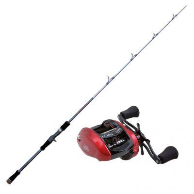 Nomura Kit da Pesca Slow Pitching Canna Hiro Slow Pitch 100-200 gr 1,80 m + Mulinello Rotante Camion