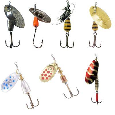 Contumax Set n 1 di 7 Cucchiaini Rotanti per la Pesca di Predatori in Acque Interne di Diversa Misure e Marchi