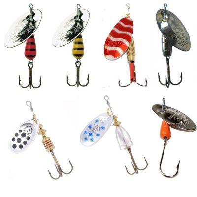Contumax Set n 3 di 7 Cucchiaini Rotanti per la Pesca di Predatori in Acque Interne di Diversa Misure e Marchi