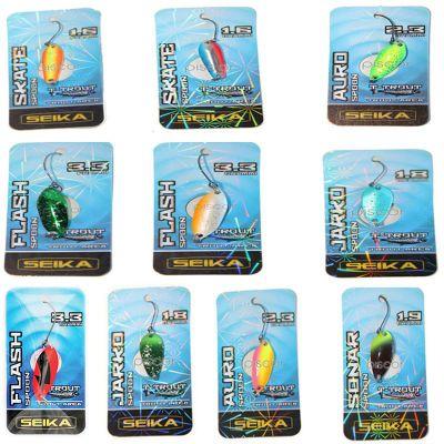 Seika Set n2 di 10 Spoon per Trout Area di Diverse Misure Forme e Azioni di Pesca