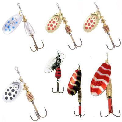 Contumax Set n 4 di 7 Cucchiaini Rotanti per la Pesca di Predatori in Acque Interne di Diversa Misure e Marchi
