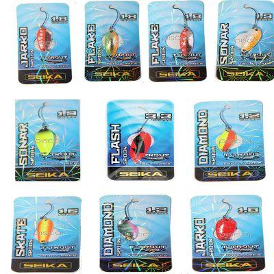Seika Set n3 di 10 Spoon per Trout Area di Diverse Misure Forme e Azioni di Pesca