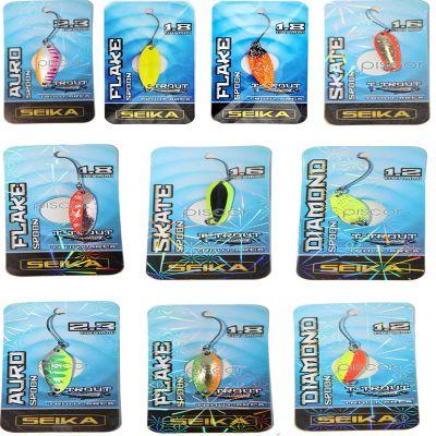 Seika Set n4 di 10 Spoon Tubertini per Trout Area di Diverse Misure Forme e Azioni di Pesca