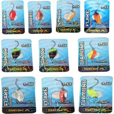 Seika Set n 5 di 10 Spoon per Trout Area di Diverse Misure Forme e Azioni di Pesca