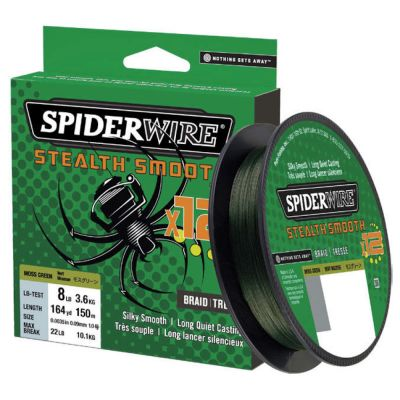 Spiderwire Stealth Smooth 12 Braid Moss Green