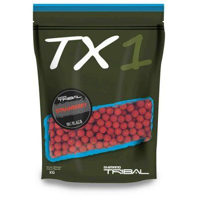 Shimano TX1 Boilies Strawberry 1 kg