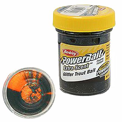 Berkley Pasta Trota Brillantinata PowerBait Black Orange