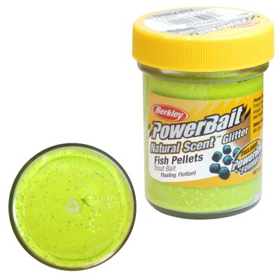 Berkley Pasta Trota PowerBait Natural Scent Fish Pellet Chartreuse