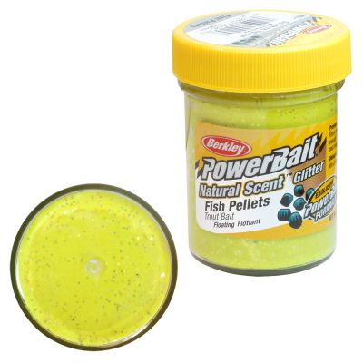 Berkley Pasta Trota PowerBait Natural Scent Fish Pellet Sunshine Yellow