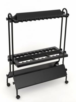 Pezon - Michel Black 24 Rod Display Stand