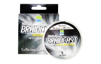 Preston Reflo Braidcast - Tapared Mono Leader