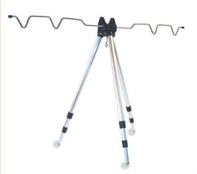 Camor Tripode Alluminio Regolabile con Appoggia Canna Pieghevole